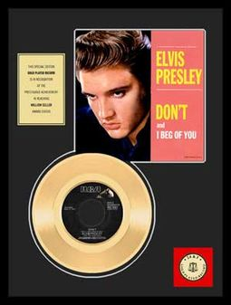 "Don't - Framed 12"" x 16"" Gold Record"