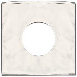 "7"" White Standard Record Sleeves (Package of 100)"
