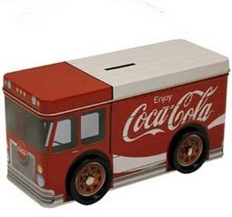 Coca-Cola - Truck Bank with Wheels