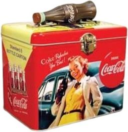Coca-Cola - Girl: Train Case with Bottle Handle