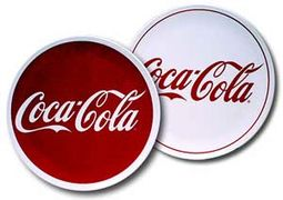"Coca-Cola - Red & White: 11"" Diameter Melamine"