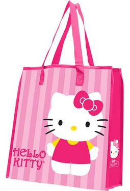 Hello Kitty - Stripes - Large Recycled Shopper
