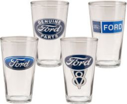 Ford - Logos - 4-Piece 16 oz. Glass Set
