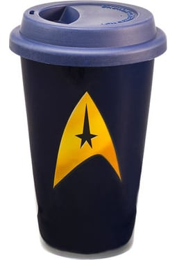 12 oz. Double Wall Ceramic Travel Mug with