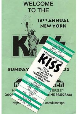 KISS - Convention Guide & Ticket: 16th Annual New
