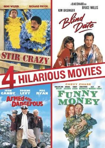 4 Hilarious Movies: Stir Crazy / Blind Date /