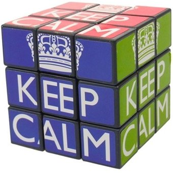 "Keep Calm & Carry On - ""Rubik's"" Cube Puzzle"