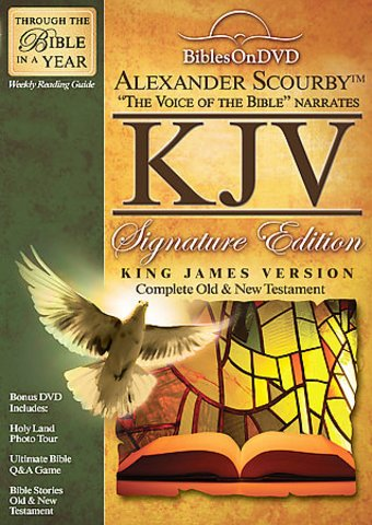 Alexander Scourby KJV Bibles On DVD Signature