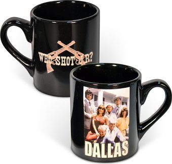 Who Shot J.R.? 14 oz. Ceramic Mug