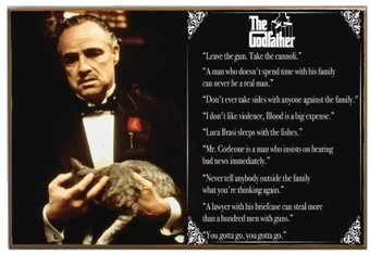 "The Godfather Quotes - 13"" x 19"" Printed Wood"