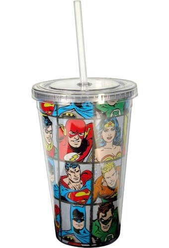 Characters Grid - 16 oz. Plastic Cold Cup with