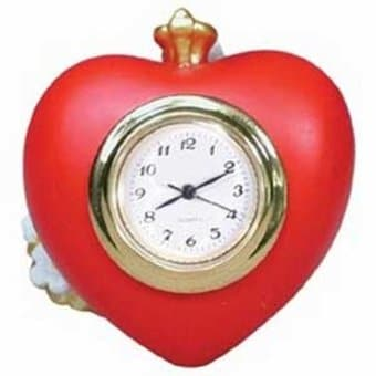 The Wizard of Oz - Tin Man's Heart Mini-Clock