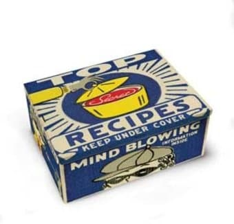 Tin Cigar Box - Recipes