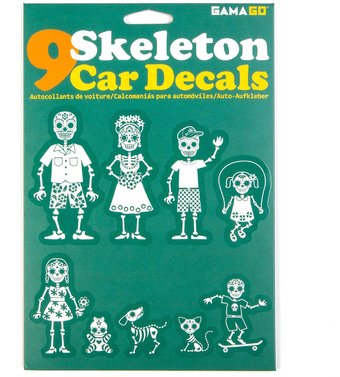 Skeleton family car decals gamago for Autocollant mural walmart