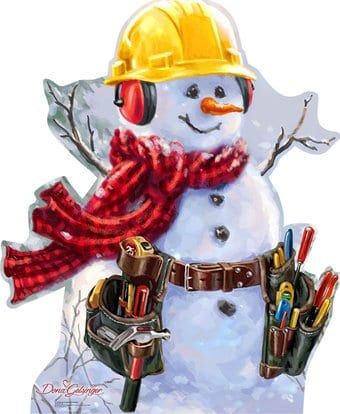 Snowman Construction Worker From Dona Gelsinger