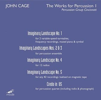 John Cage - Works for Percussion, Volume 1
