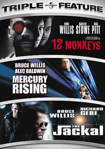 12 Monkeys / Mercury Rising / The Jackal (3-DVD)