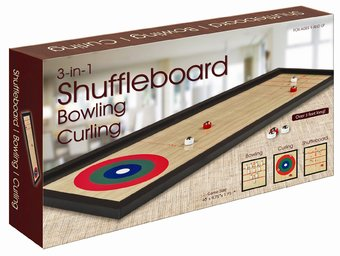 Retro Toy - 3-In-1 Game Set: Shuffleboard,