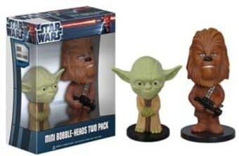 Star Wars - Yoda & Chewbacca: Mini Wacky Wobbler