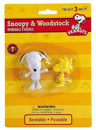 Peanuts - Snoopy & Woodstock Bendable Figures