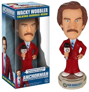 Anchorman - Talking Ron Burgundy Bobble Head