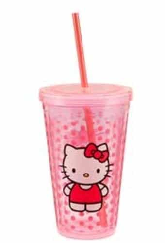 18 oz. Pink Plastic Travel Cup