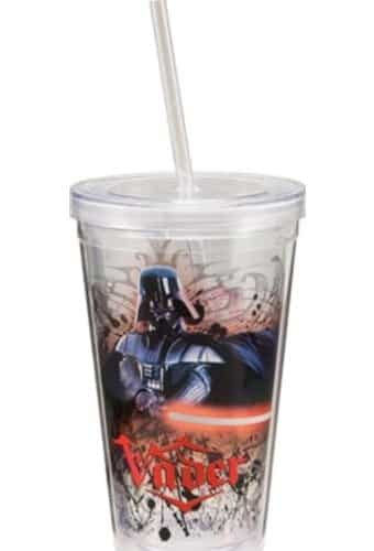 Darth Vader 18 oz. Plastic Cup With Lid & Straw