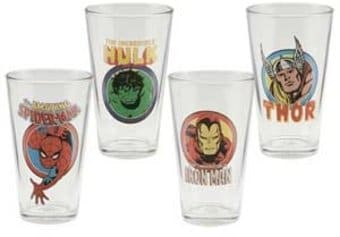 Marvel Comics - 4 Piece 16 oz. Glasses Set