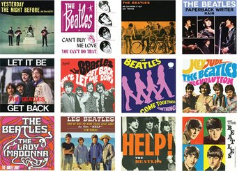 The Beatles - Albums: 12-Piece Magnet Set In Tin