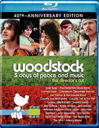Woodstock: Three Days of Peace & Music (Blu-ray,