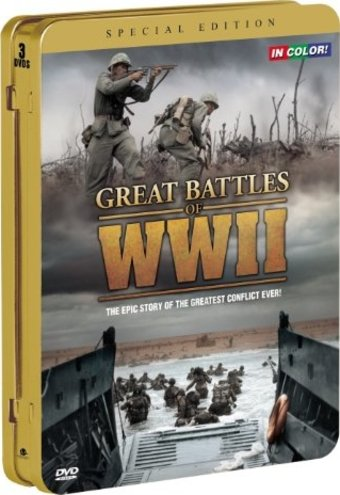 WWII - Great Battles of WWII in Color [Tin Case]