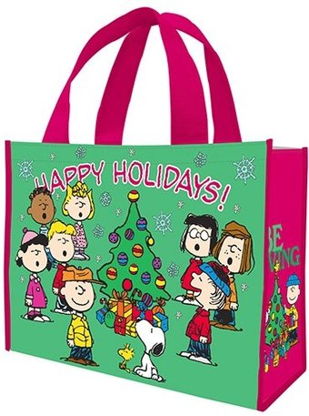 Happy Holidays Large Recycled Shopper Tote