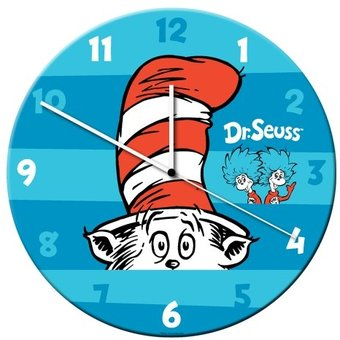 The Cat In The Hat - Cordless Wood Wall Clock