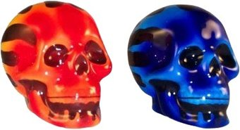 Skulls - Flaming Skulls - Salt & Pepper Shakers