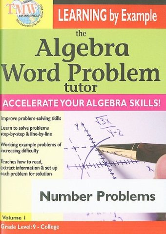 The Algebra Word Problem Tutor: Number Problems