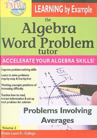 The Algebra Word Problem Tutor: Problems