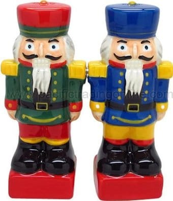 Nutcrackers - Ceramic Magnetic Salt and Pepper