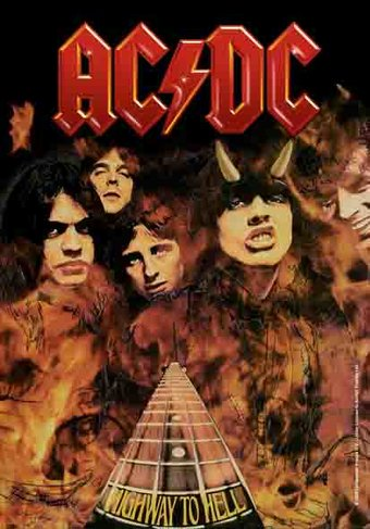 AC/DC - Highway to Hell: Flag / Poster / Scarf