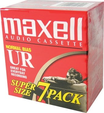 Maxell UR-90/7 Normal Bias Audiocassette - 7 Pack