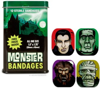Monster Adhesive Bandages