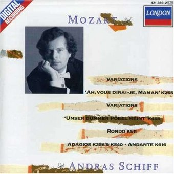 Mozart: Variations; Rondo in A Minor; Adagio in B