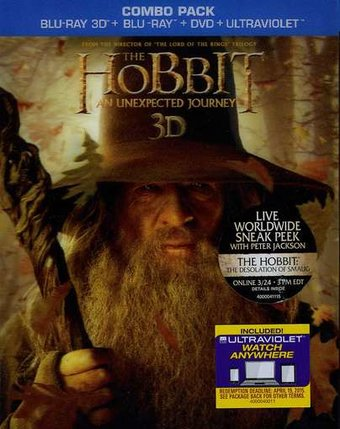 The Hobbit: An Unexpected Journey 3D (Blu-ray +