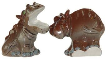 Safari Hippos - Salt & Pepper Shakers