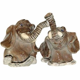 Safari Elephants - Salt & Pepper Shakers