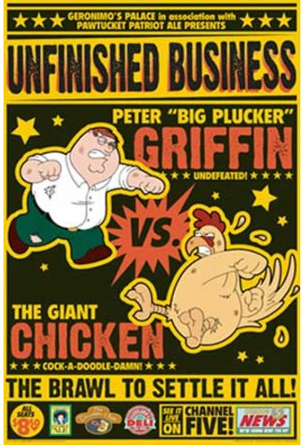 "Family Guy - Peter vs Chicken Poster (12""x36"")"