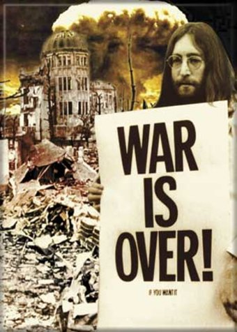 "War Is Over! - Photo Magnet 2 1/2"" x 3 1/2"""