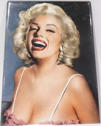 "Marilyn Monroe - Laughing Photo Magnet 2 1/2"" x 3"
