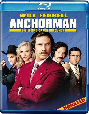 Anchorman: The Legend of Ron Burgundy (Blu-ray,