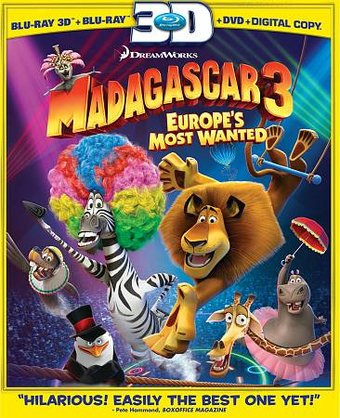 Madagascar 3: Europe's Most Wanted 3D (Blu-ray +