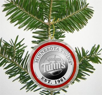 Baseball - Minnesota Twins - Silver Coin Ornament
